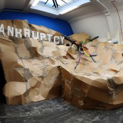 Debt Mountain Theme Park // Wood, Cardboard, Screws, Glue, Staples, Tape // 600 x 700 x 500 cm // 2011