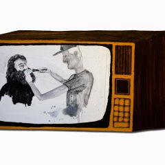 CH.75: The Search Goes on for WMD // Oil & Acrylic on MDF // 36 x 72cm // 2007