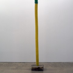 GM# 26: BRANCUSSI BANANA TREE // Wood, Steel, Screws, Ribbed Plastic Pipping // 450 x 50 x 30 cm // 2009