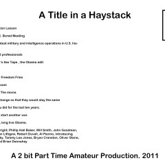 A Title in a Haystack // Post Card // Edition of 500 // 145 x 210 mm // 2011