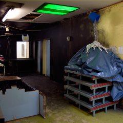 Manna Mountain // Plastic Swimming Pool Floor Stands, Polyurethane, Bucket, Cat Cut, Tinfoil, Tinsel // 120 x 250 x 120 cm // 2008