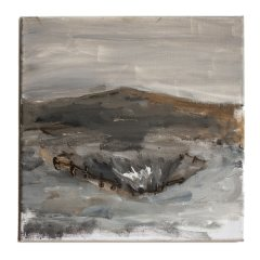 R.P.G. Practice in the Quarry // Tony O'Malley, 1913-2003 // Acrylic on Canvas// 30x30cm // 2015
