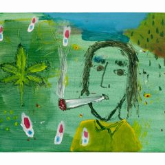 Howard Marks goes shopping for Bulk Skunk in the Caribbean En Route to Shannon Duty Free // Tony O'Malley, 1913-2003 // Acrylic on Canvas // 40x50cm // 2015