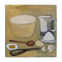 Anne Maguire's Explosive Cake Mix, with Special Glycerine Free Icing // William Scott, 1913-1989 //Acrylic on Canvas // 30x30cm // 2015