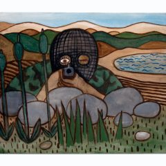Guerrillas in the Glen // Pauline Bewick, b. 1935 // Acrylic on Canvas // 50x40cm // 2015