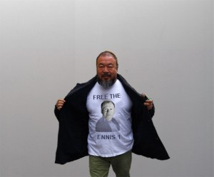 Ai Weiwei Flashes his Support for Dermot Mulqueen 'The Ennis 1' // Digital Image // Dissenting Dimensions // 2015