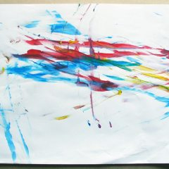 €1, 2 min, 3 colours // Paper, Poster Paint // 21 x 29 cm //2003