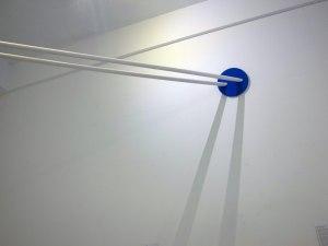 Enki's Pillars of Cloud // Plastic Piping, Wood, Screws, Paint // 200 x 25 x 25 cm // 2015