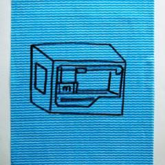 Art is Dead again. Long Live 3D // Dish Cloth & Permanent Marker// 2013