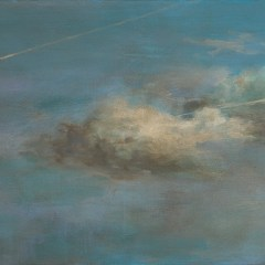 Painting of Clouds with Damage Carbon-Dated to a Friday in Mid-17th Century// Acrylic & oil on canvas, 53x73cm // 2016