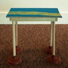 Swedish Sewage Table // Wood, Plumber Plunger, Screws, Acrylic Paint // 60 x 70 x 45 cm // 2006