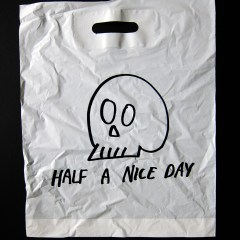 Bag 4 a ½ Life // Plastic Bag, Permanent Marker // Endless Edition (250+) // 35 x 50 cm // 2014