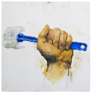 Born 2 Scrub // Oil on Board // 60 x 60 cm // 2005