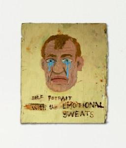 Self Portrait with Romantic Snots // Oil on Board // 28 x 19 cm // 2004