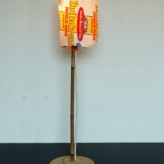 DOH! Reading Lamp // Wood, Bamboo, Wire, Tie Wraps, Electrical Fittings & Light, Bread Wrapper // 55 x 25 x 25 cm // 2005