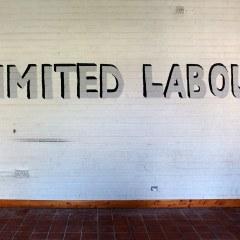 Unionising Utopia // Acrylic Paint, Glitter // 300 x 45 cm // 2006