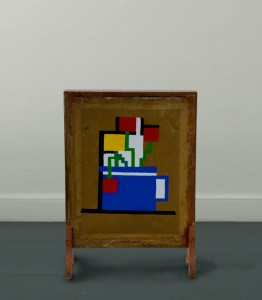 There is a Fire, that Burns in Peat Mondrian's Belly // Acrylic on Card, Fires Screen // 62 x 43 x 15 cm // 2008