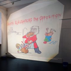Santa Slaughters the Opposition // Transparency Projection // 350 x 450 cm // 2005