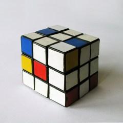 Make Your Own Mondrian // Rubix Cube, Vinyl // 5.7 x 5.7 x 5.7 cm // 1996