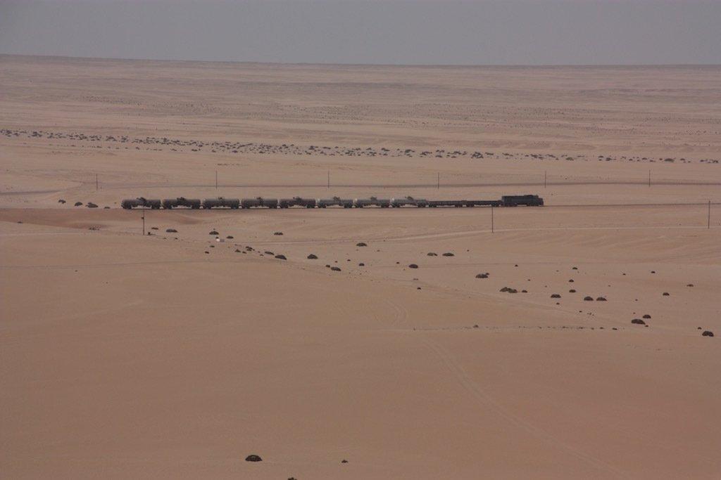Tren cargado de petróleo en dirección Windhoek