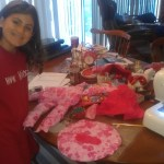 Sewing lessons pay off when making Christmas gifts!