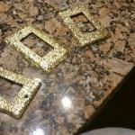Glitter switch plates