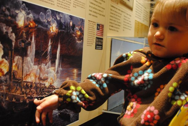Exhibit at Civil War Naval Museum