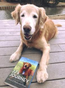 Trooper with JJ's Journey book