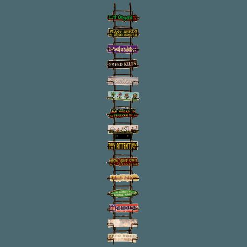 z 15 slot wall mount sticker rack