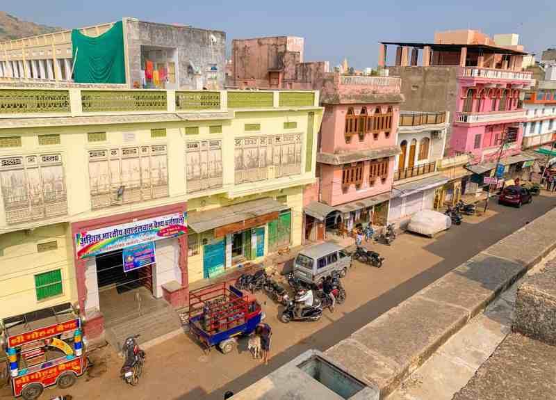 Colourful street in Pushkar