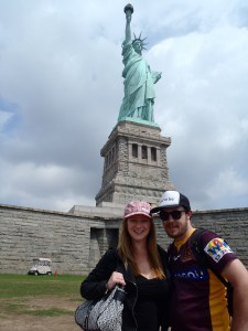 Never Ending Honeymoon | Jacqui and Dan at the Statue of Liberty, New York City