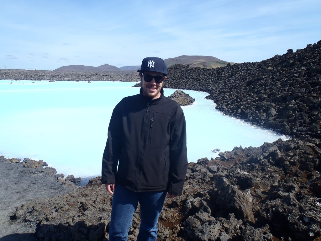 Never Ending Honeymoon | Dan at the Blue Lagoon thermal pools in Iceland