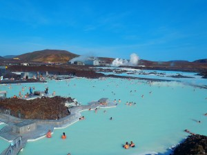 Never Ending Honeymoon | Enjoying a swim at the Blue Lagoon Thermal Pools