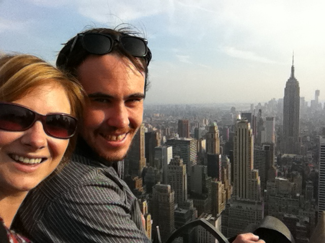 Overlooking NYC atop the Rockerfeller Centre