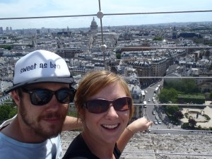 Never Ending Honeymoon | Jacqui and Dan Atop the Notre Dame in Paris
