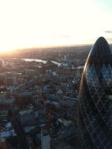 Never Ending Honeymoon | Sunrise view from Duck and Waffle, London