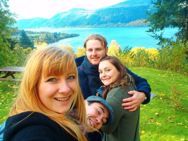 Loch Ness, Scotland. With Steve and Ala