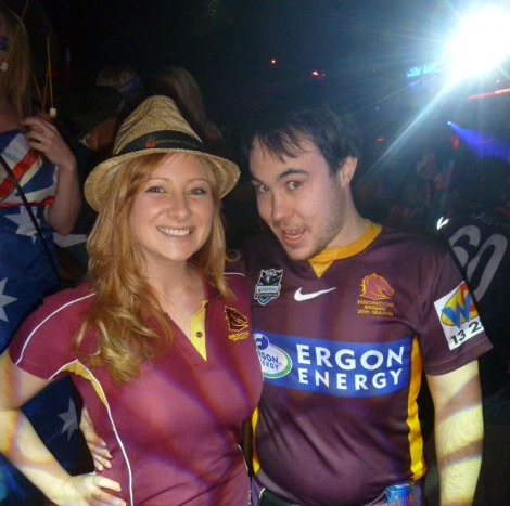 Dan and I at Infernos for Australia Day 2013