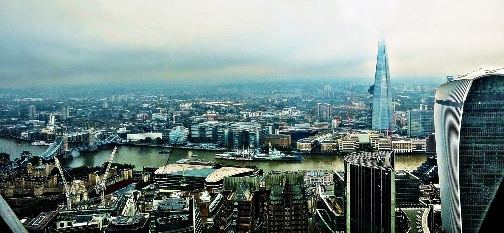 The London skyline, looking south
