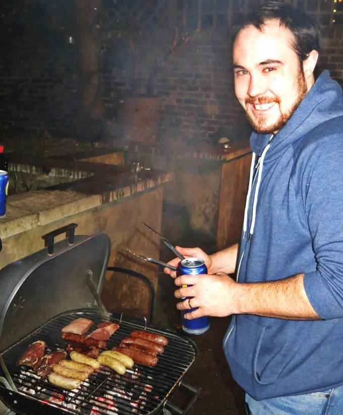 BBQing in the rain