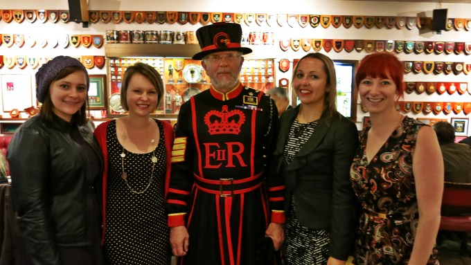 The girls and the beefeater