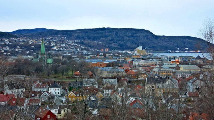 12 view of Trondheim from fortress