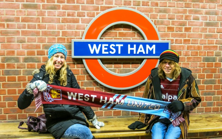 Luke and Tracey West Ham United