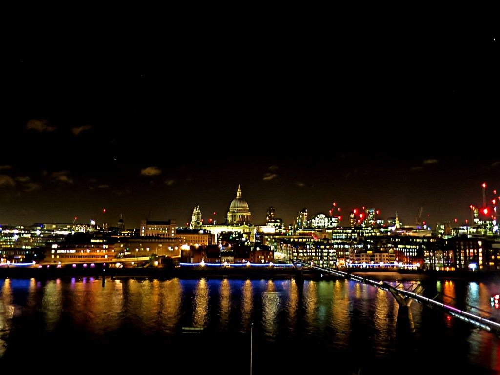 St Paul's Cathedral and the Thames by night