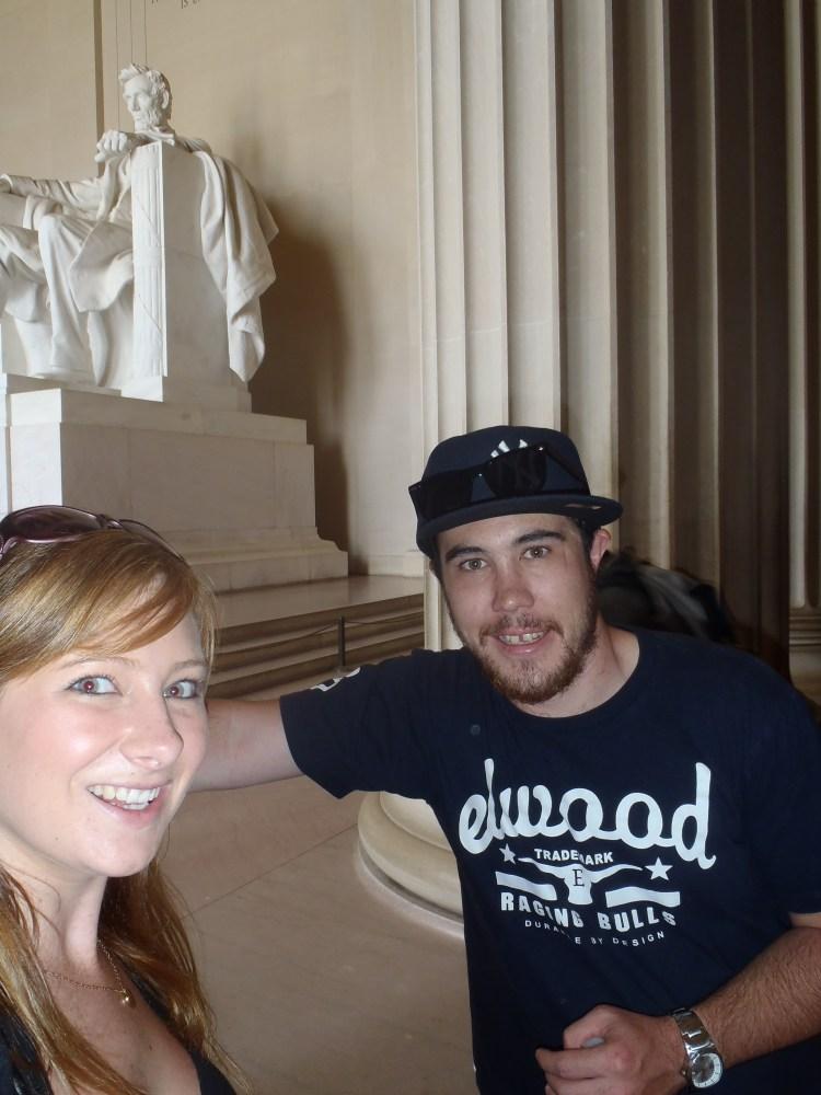 Jacqui and Dan at Lincoln Memorial