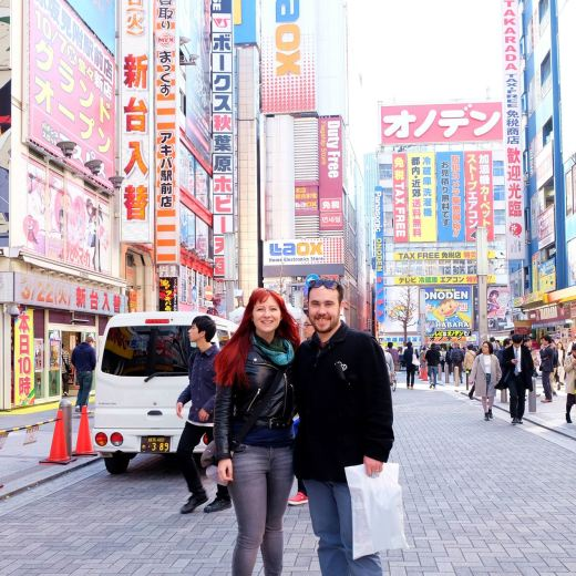Jacqui and Dan at Akihabara