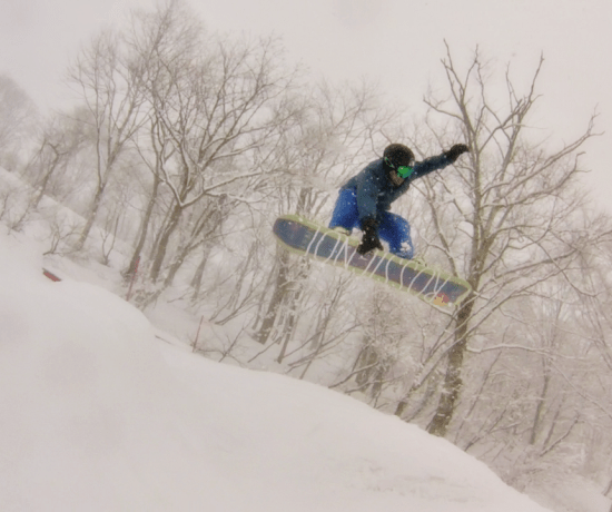 Daniel being awesome - snowboarding in Japan