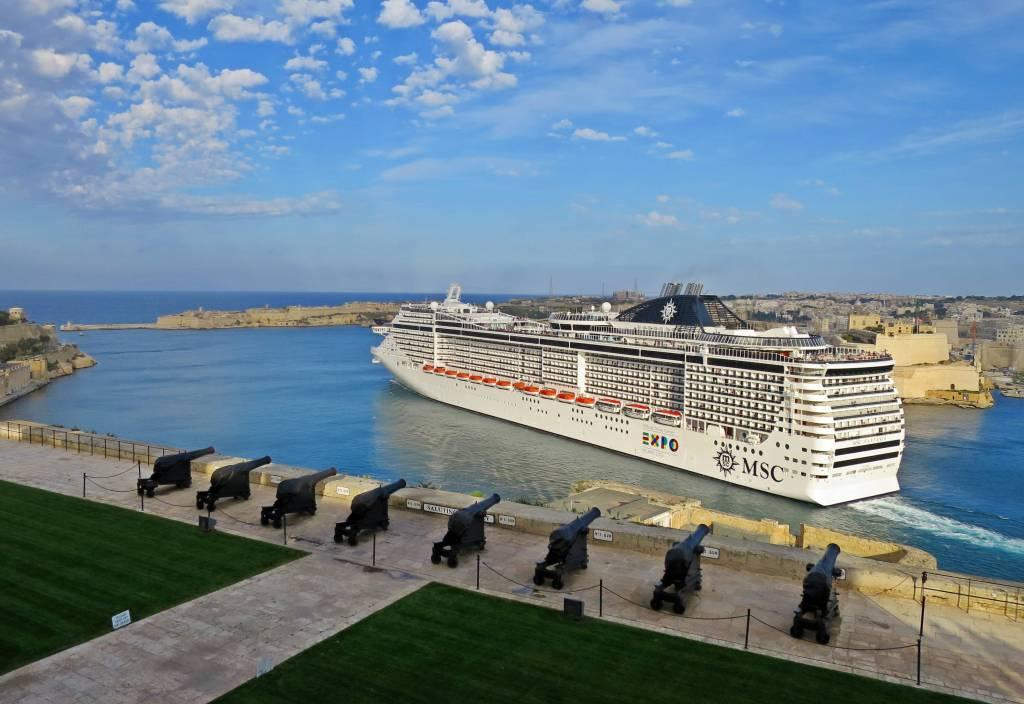 A cruise ship in Malta