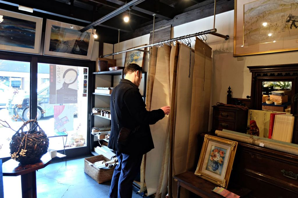Kyoto Antique stores scrolls
