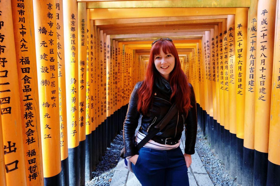 Jacqui at Fushimi Inari Shrine, Kyoto, Japan